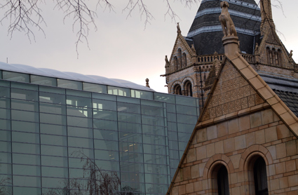 The Darwin Centre 2 with the Cocoon collection and exhibition space at the Natural History Museum.