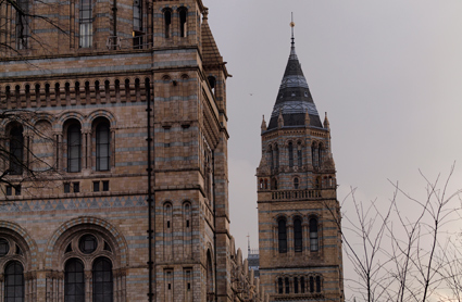 The beautiful main building of the Natural History Museum.